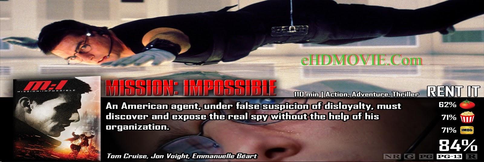 Mission: Impossible 1996 Full Movie Dual Audio [Hindi – English] 1080p - 720p - 480p ORG BRRip 300MB - 800MB - 2GB ESubs Free Download