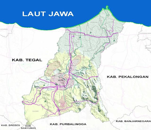 Gambar Peta Infrastruktur Kabupaten Pemalang