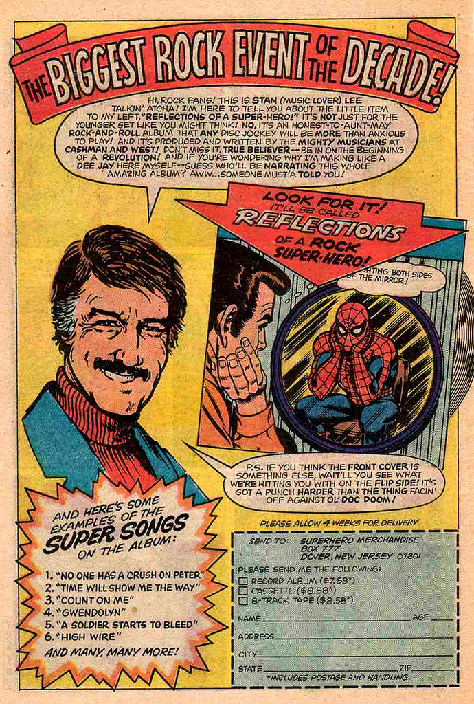 The Dork Review Spider Man Rock Reflection Of A Super Hero