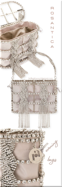 Rosantica light pink sillver-toned crystal-embellished mini bag #bags #eveningbags #rosantica #brilliantluxury