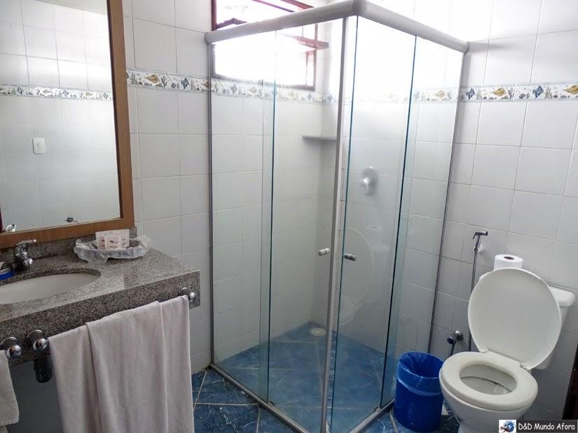 Onde ficar em Natal (RN) - banheiro de um dos quartos do D Beach Resort