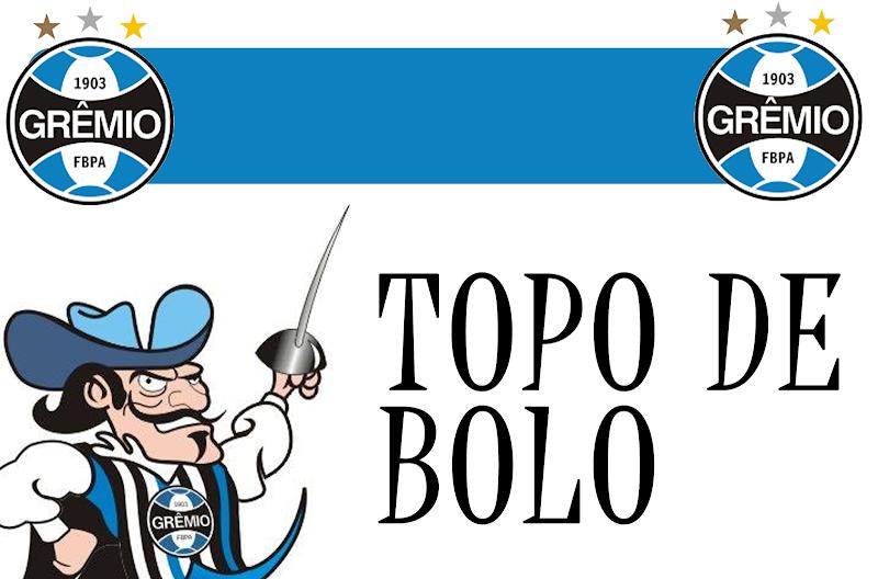 TOPO DE BOLO TIME: GRÊMIO