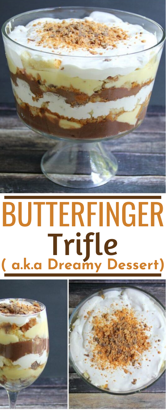 Butterfinger Trifle (Dreamy Dessert) #desserts #recipes #easy #party #pudding