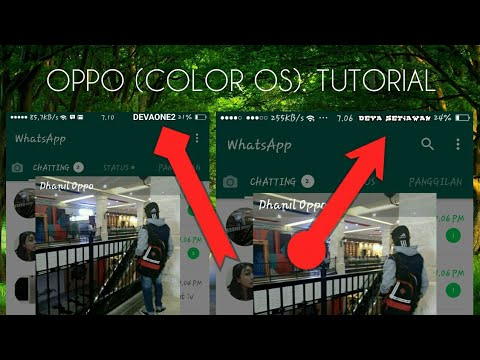 OPPO (Color Os) Cara Mengganti Icon Pelindung Mata Menjadi icon Nama Sendiri