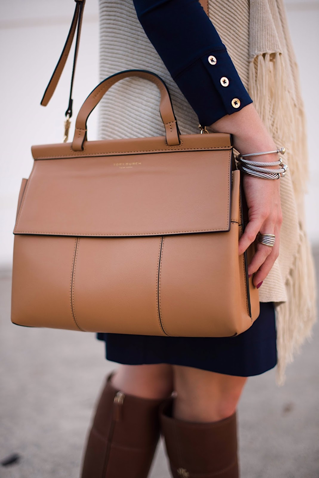 Tory Burch T Satchel - Rachel Timmerman of Something Delightful Blog