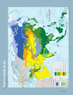 Apoyo Primaria Atlas de Geografía del Mundo 5to. Grado Capítulo 2 Lección 4 Regiones Naturales de Asia