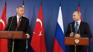 أردوغان وبوتين بحثا في اتصال الهجوم الغادر للنظام السوري على الجنود الأتراك في إدلب