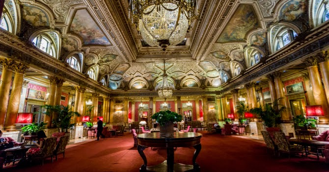 Breakfast At Grand Hotel Plaza In Rome Italy