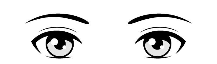 Anime menggambar mata sederhana