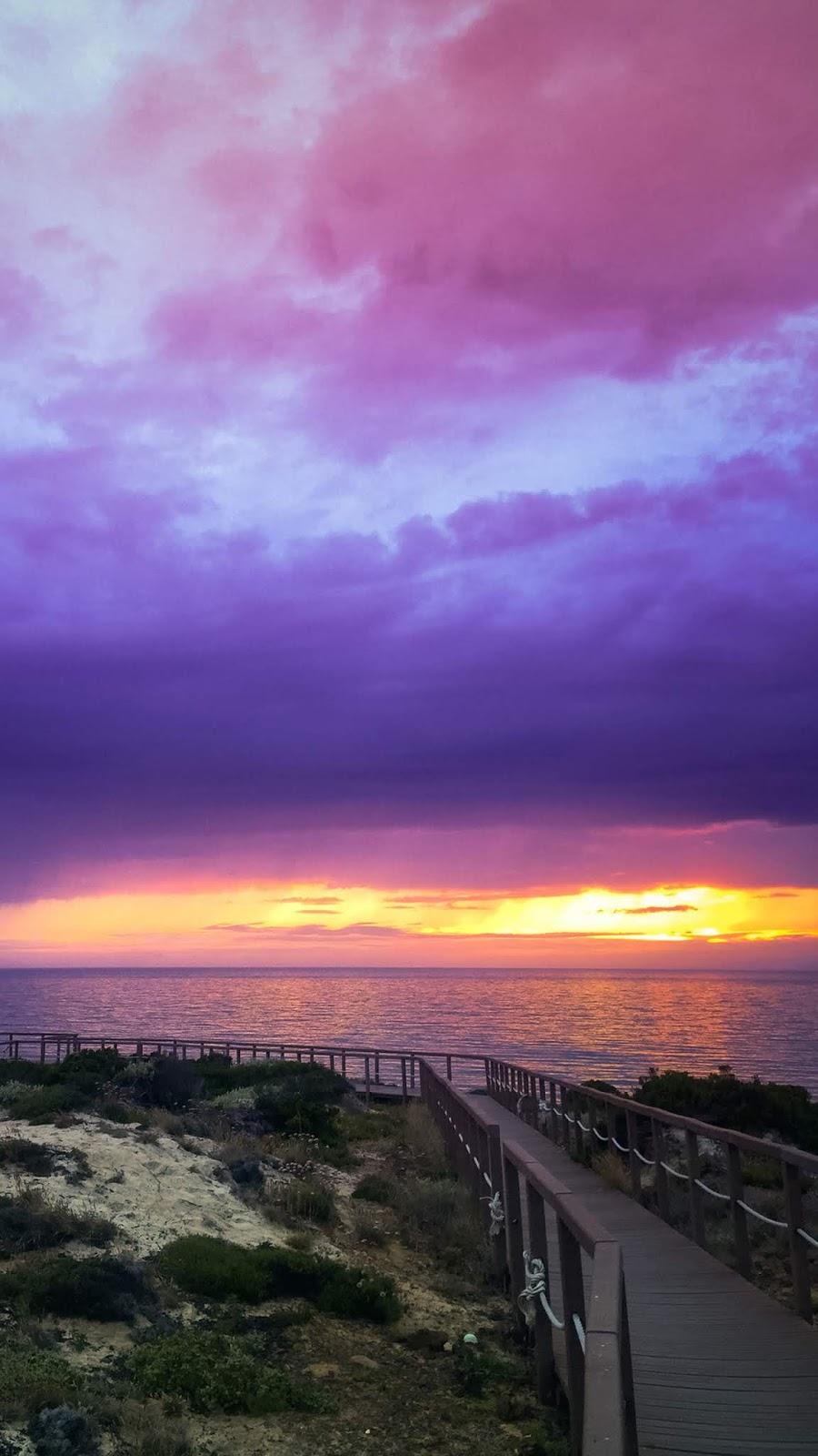Twilight sky in the sunset