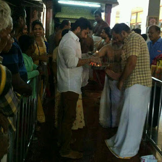 Surya visit at temple latest pictures