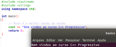 Como comentar uma linha em C++ //
