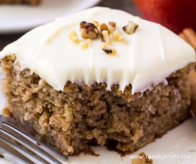 APPLE SPICE CAKE WITH CREAM CHEESE FROSTING RECIPE