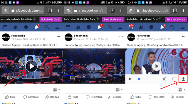Cara Download Video Di Facebook Android Tanpa Aplikasi
