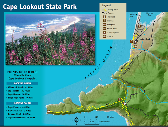 Cape Lookout State Park Hiking Map