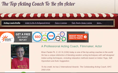 My acting coaching website image