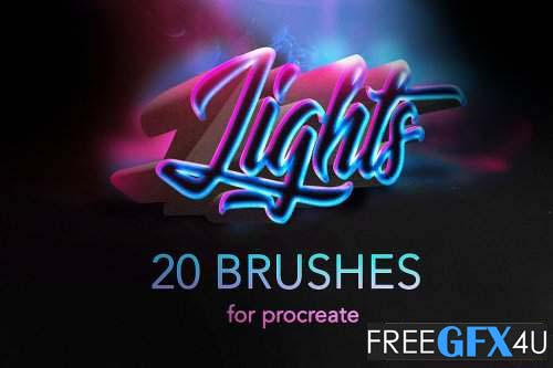 Procreate lights brushes