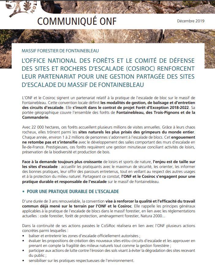 communication onf cosiroc 1