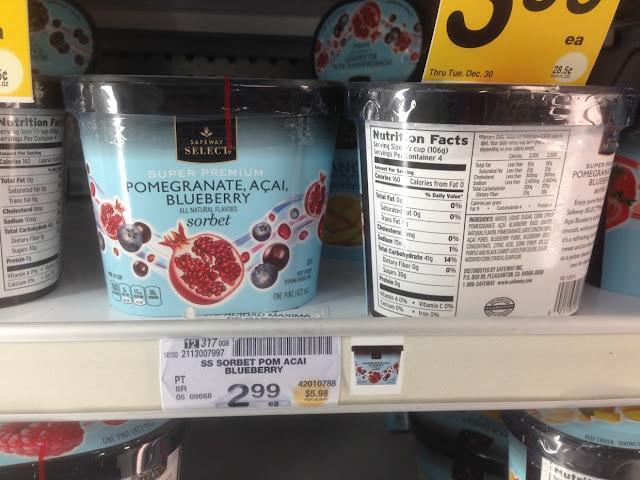Pomegranate, Acai, Blueberry Sorbet, Safeway Select - Safeway