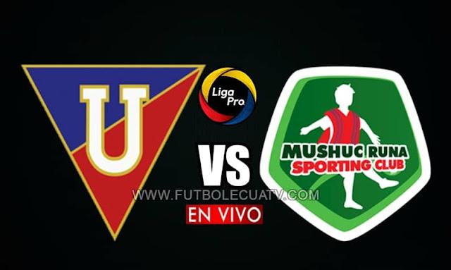 Liga de Quito se mide ante Mushuc Runa en vivo a partir de las 15h30 hora local, por la jornada quince del torneo ecuatoriano, siendo transmitido por GolTV Ecuador a efectuarse en el campo Rodrigo Paz Delgado. Con arbitraje principal de Álex Cajas.