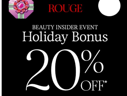 Sephora Beauty Insider Holiday Bonus Event 20% Off Promo Code