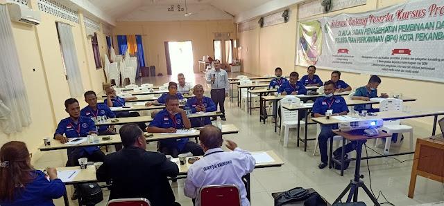 Pelatihan Materi Pra UKW Tahap I yang diadakan oleh SPI Riau berjalan sukses