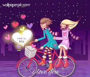 i love you cartoon image