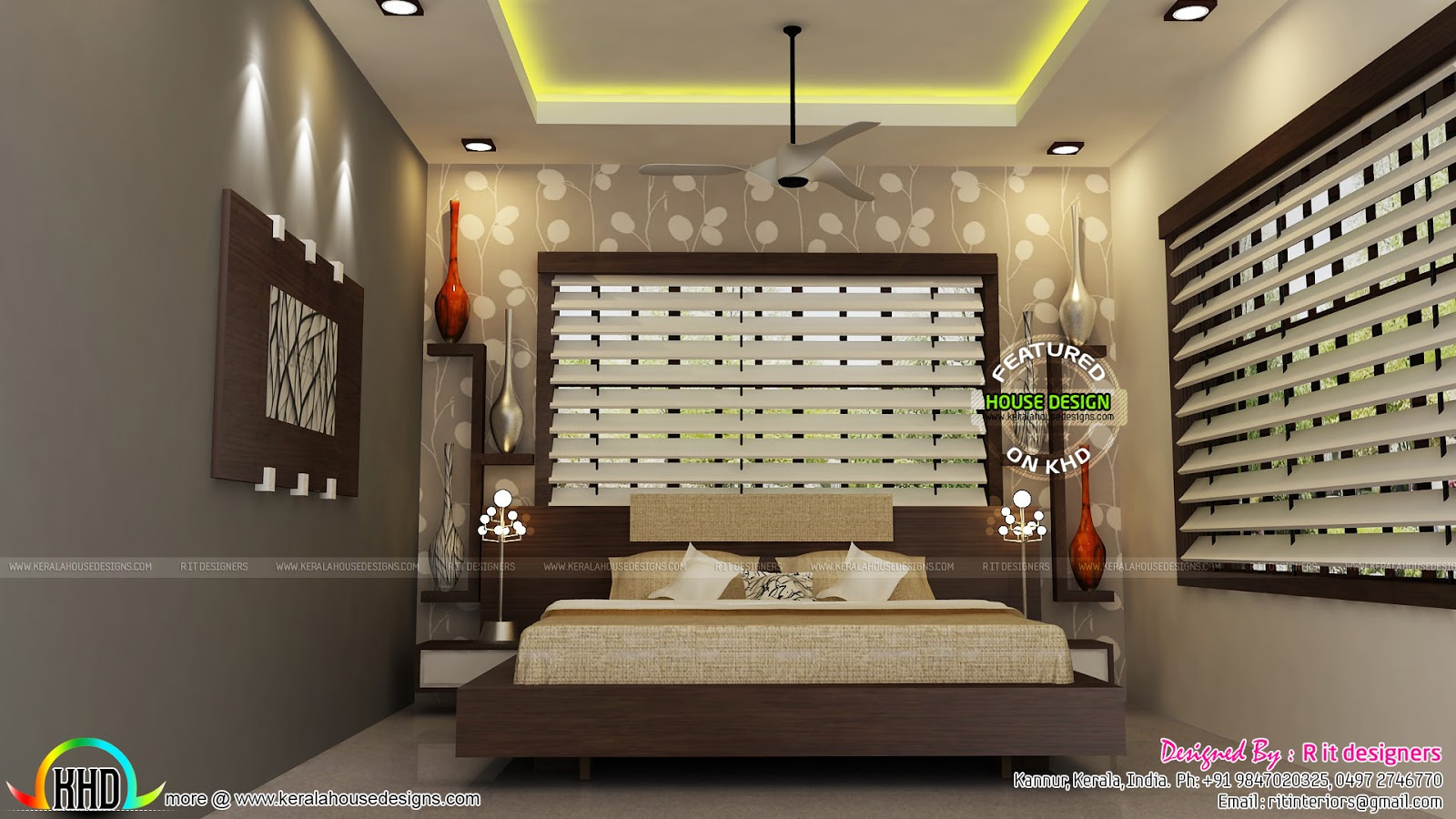 Foyer Plan Kerala : Living kitchen bedroom interiors kerala home design