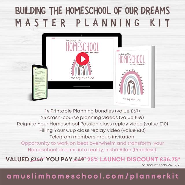 Muslim Homeschool Planner bundle