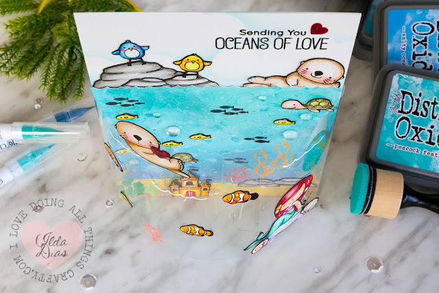 Oceans of Love DIY Bendy Card - 2017 MFT Superstar Card Contest Entry