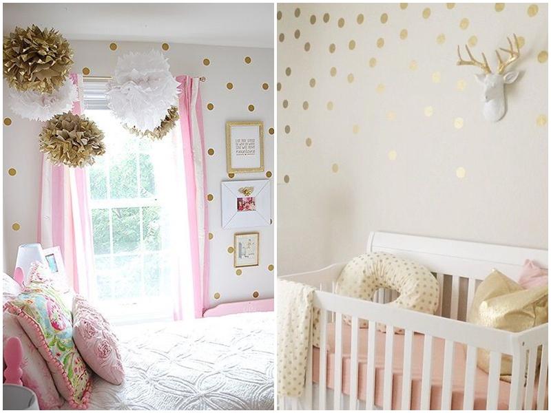 kropki w pokoju dziecka