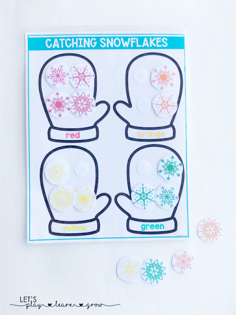 Sort snowflakes by color/by color word
