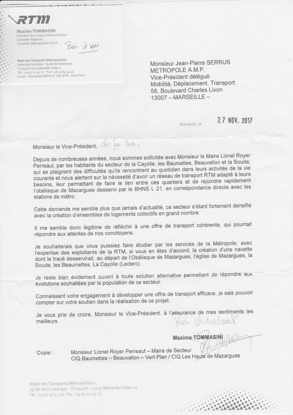 Destructeur De Documents Leclerc Lettre De Monsieur Tommasini Du 27 Novembre 2017 à Monsieur J P