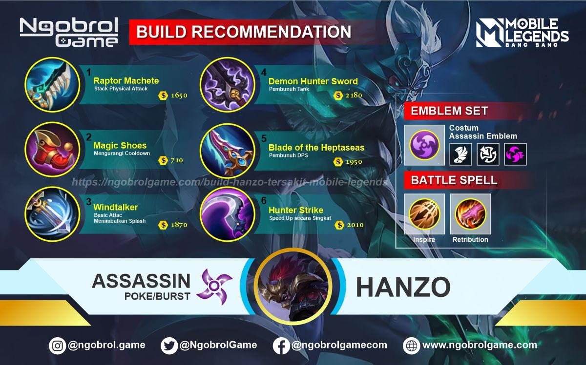 Build Hanzo Top Global Tersakit Mobile Legends