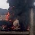 Raw Photos from a fire incident at Ekpan Petrol Tankers park in Warri, Delta state