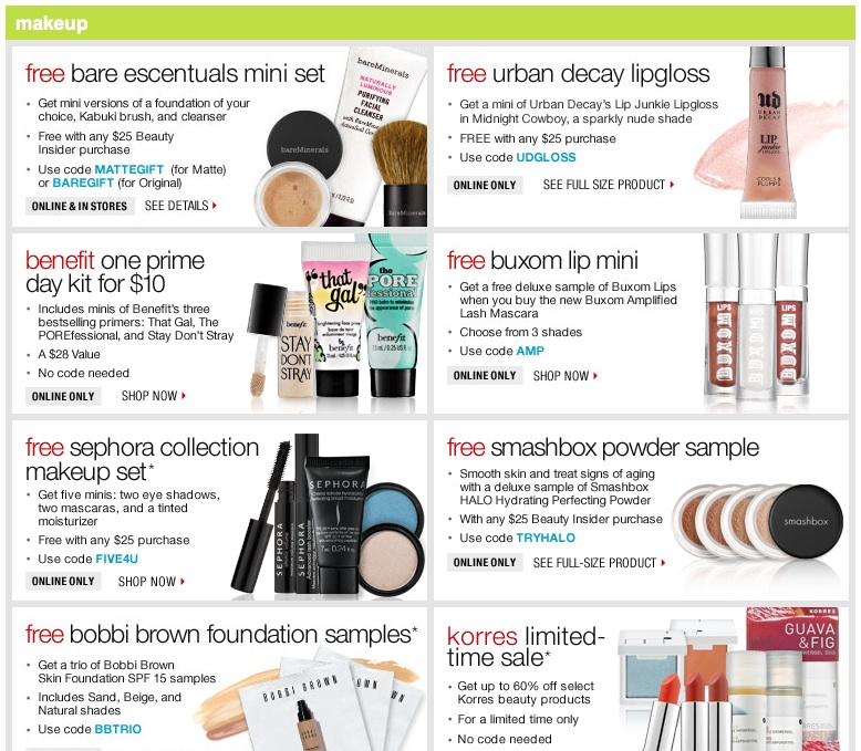 Coupon codes for sephora