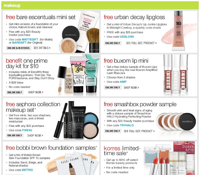 Sephora offers thousands of name brand beauty products including cosmetics, skincare, hair care, fragrance, and nail products to fit every beauty need and style. Get free gifts, free samples, and occasionally, find up to 20% off Sephora coupon codes and exclusive VIB coupons here. How to use a Sephora coupon code (online step-by-step instructions).