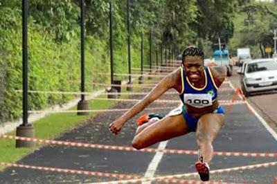 Atletismo na pista de caminhada do Parque do Ingá
