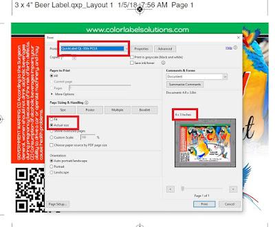 QL-300 Full-Bleed PDF Printing