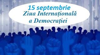 15 septembrie: Ziua Internațională a Democrației