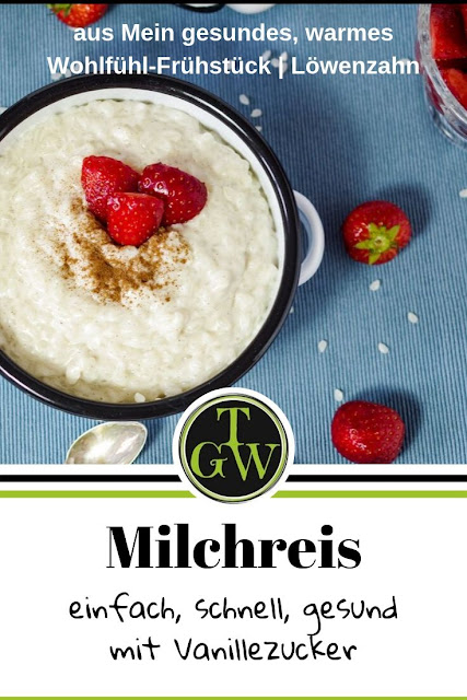einfacher schneller gesunder Milchreis mit Vanillezucker nach der TCM-Lehre #milchreis #schnell #einfach #tcm #ernährung