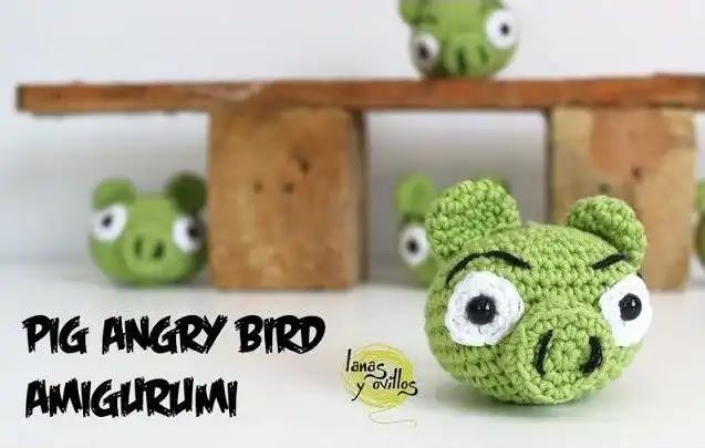 Tutorial Amigurumi Cerdo de Angry Birds a Crochet
