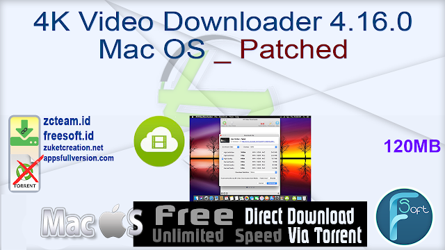 4K Video Downloader 4.16.0 Mac OS _ Patched_ ZcTeam.id
