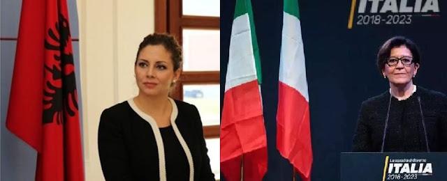 Italian Defense Minister Elisabetta Trenta visits Tirana