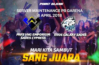 Informasi Server Maintenance 4 April 2018 PB Garena Indonesia