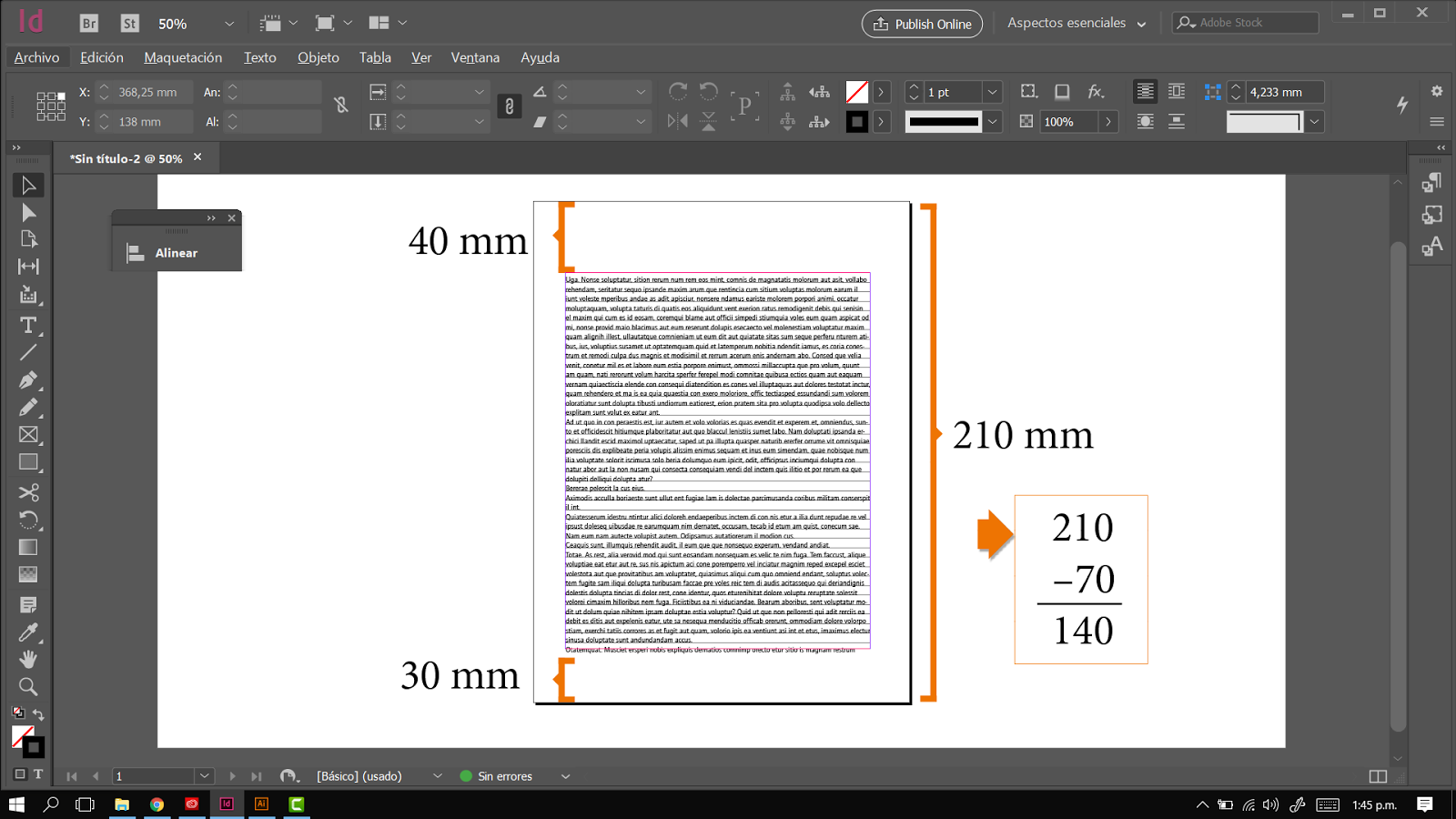 Ajustar línea base en InDesign - profeivan