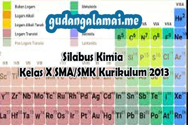 Silabus Kimia Kelas X SMASMK Kurikulum 2013