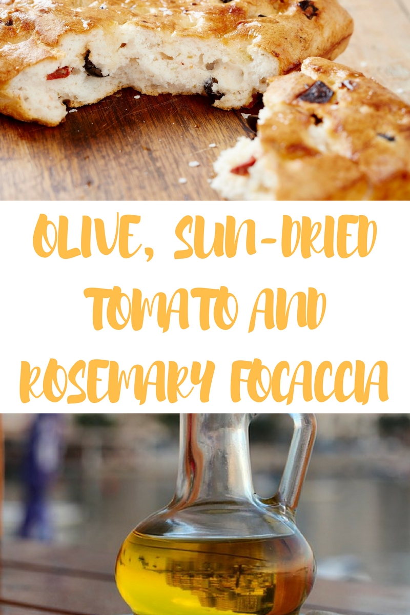 Olive, Sun-Dried Tomato And Rosemary Focaccia... | ¡ Wasn ...