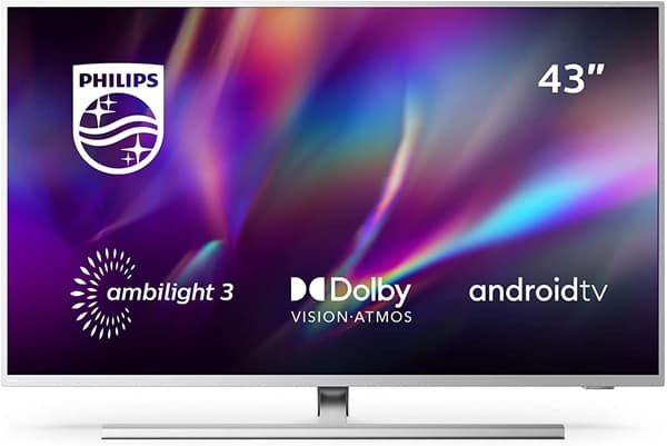 Philips 43PUS8505/12: Smart TV de 43'' con resolución 4K, iluminación Ambilight en 3 lados, Android TV y Dolby Vision