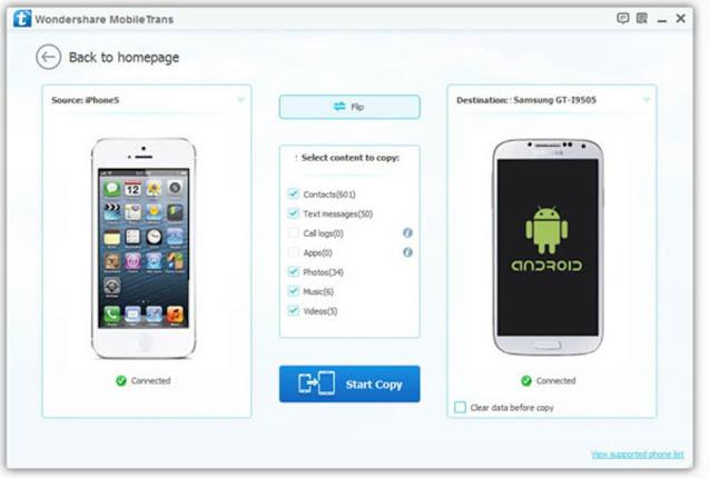 Wondershare MobileTrans The World's #1 Phone to Phone Transfer Solution
